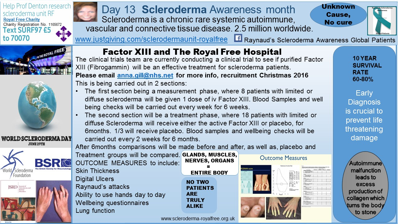 Day 13 Scleroderma Awareness month