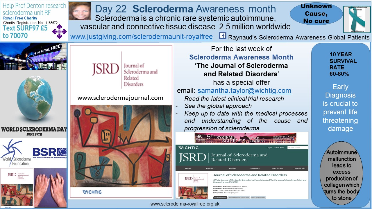 Day 22 Scleroderma Awareness month
