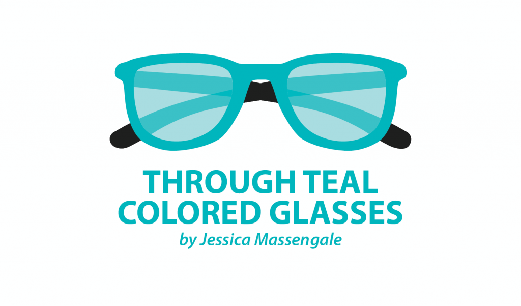 Jessica Teal Colored Glasses
