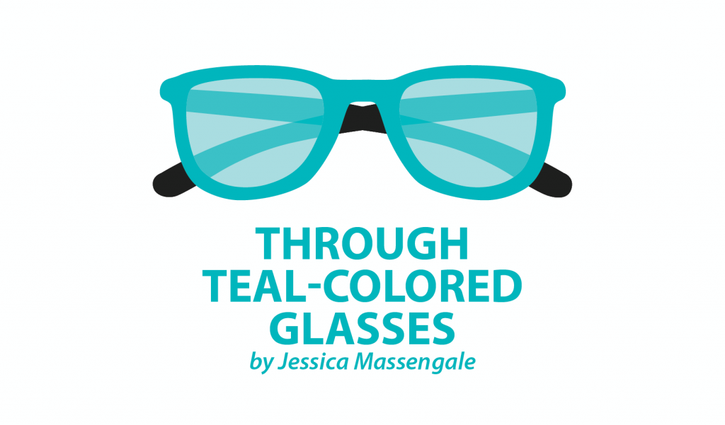 jessica teal glasses